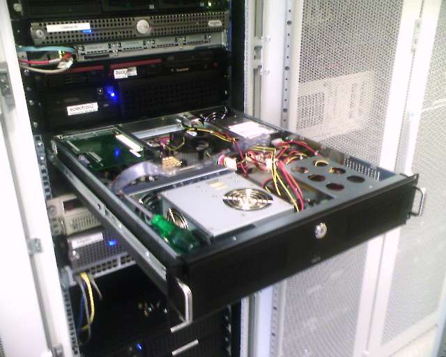 Our old server in the rack